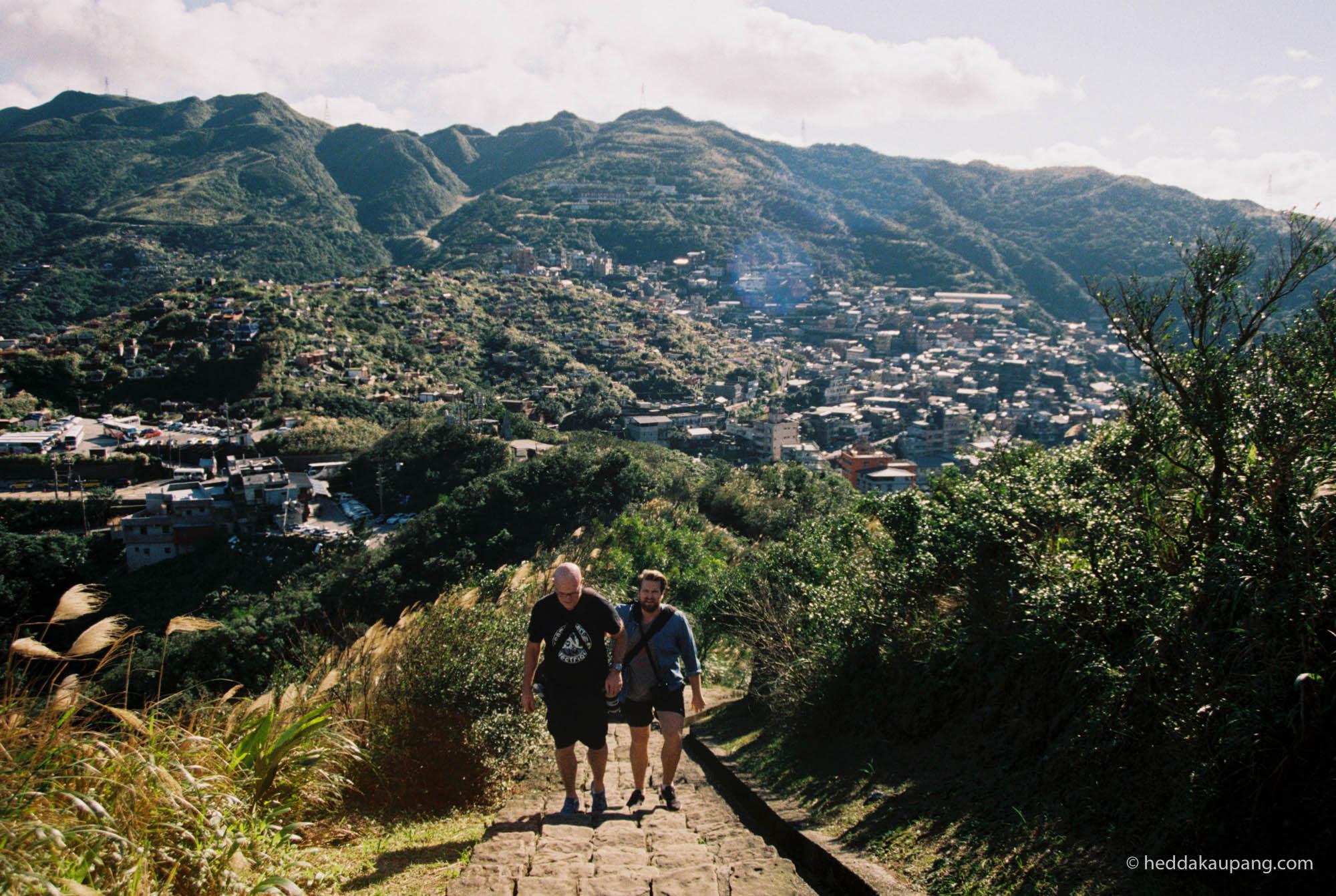 På vei opp fjellet Jiufen