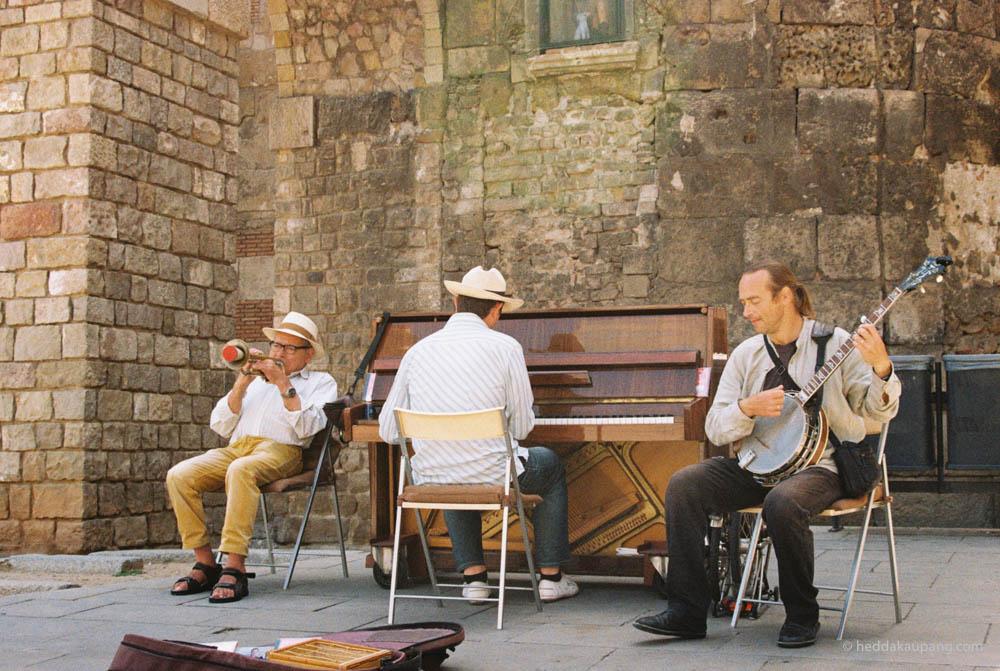 Gatemusikanter i Barcelona