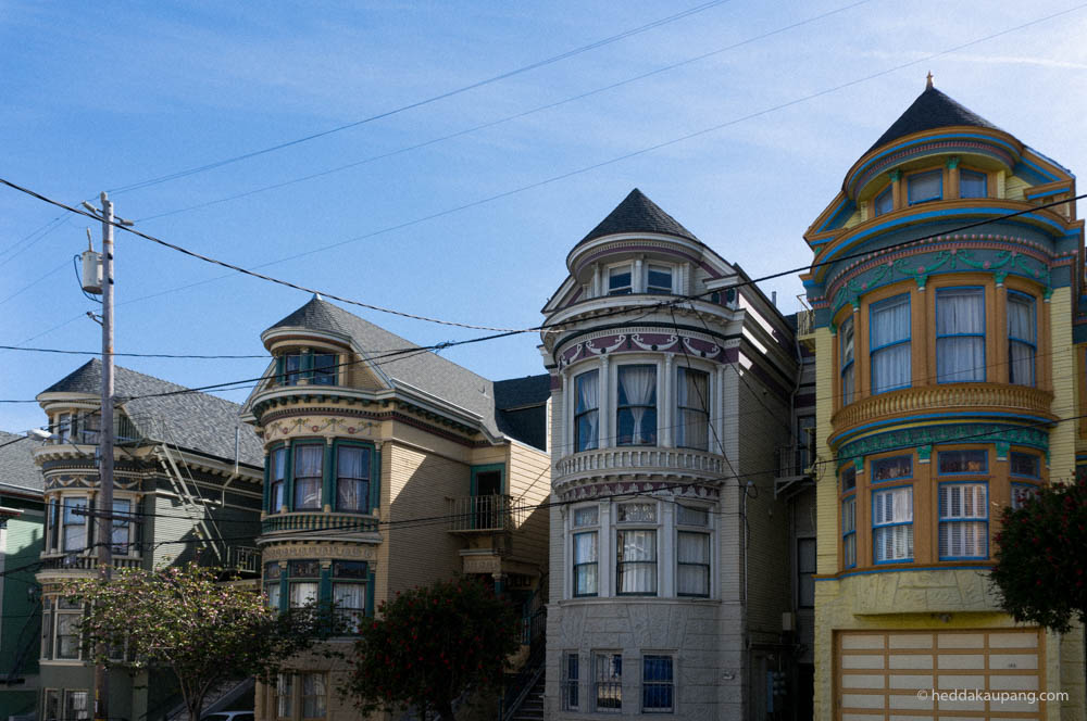 Victorian houses in Haight-Ashbury.