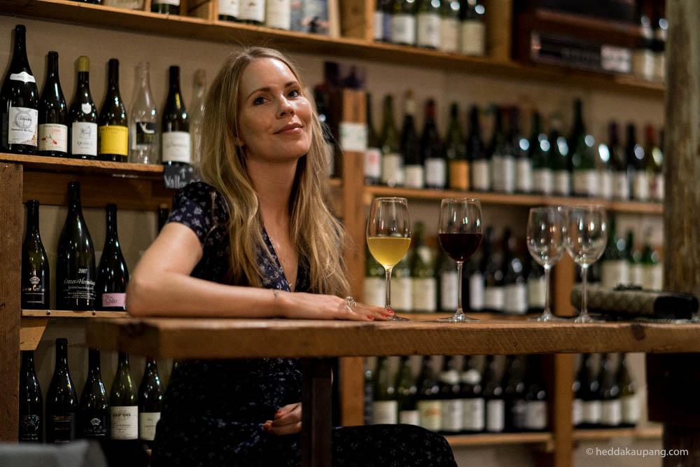 Natural wine at Terroir wine bar in San Francisco.