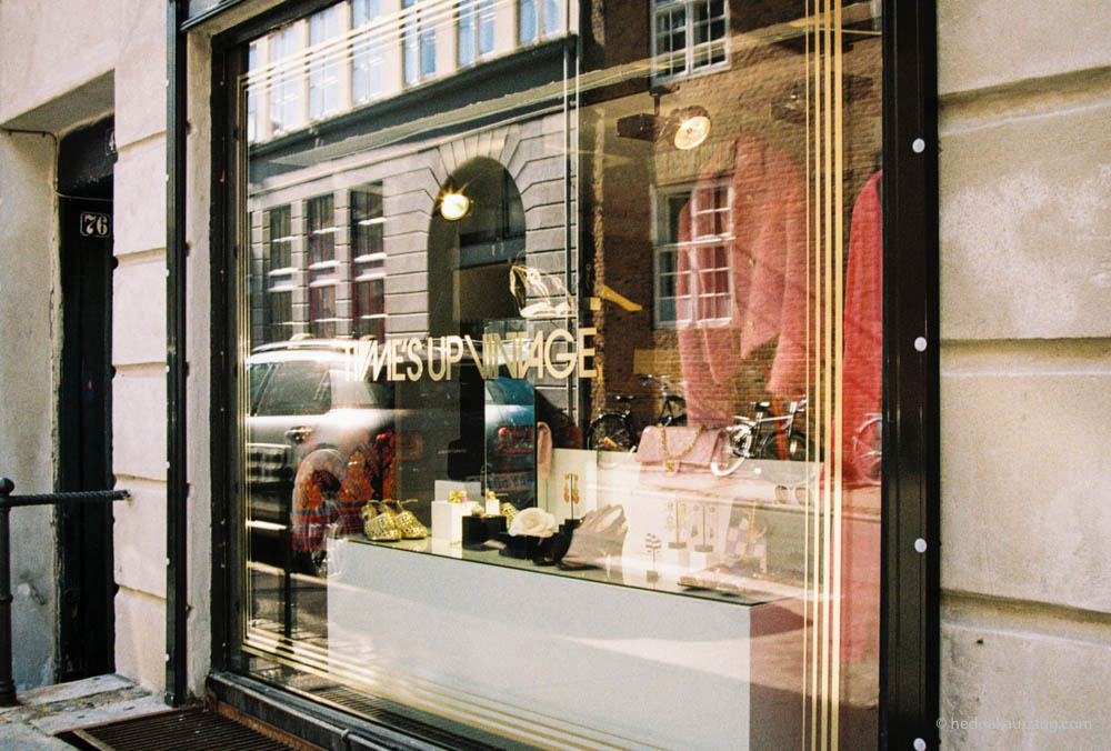 luxury vintage at Time's Up Vintage in Copenhagen