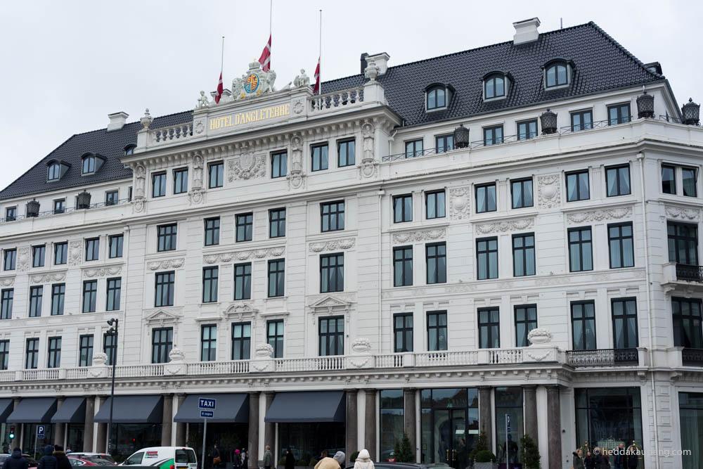 Fasaden til luksuriøse Hotel d'Angleterre i København